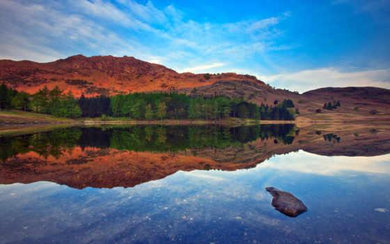 landscape, озеро, normal, горы, природа,