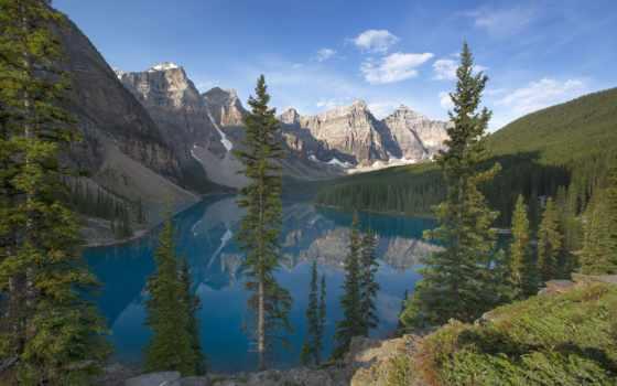канадский, banff, озеро