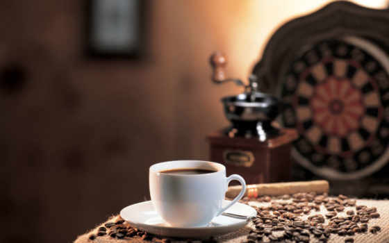 , кофе, чашка, зерна, дартс, кофемолка,