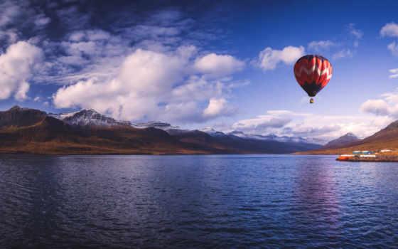 мяч, aerial, картинка, модульная, со, фотографий, купить, iceland, небе,