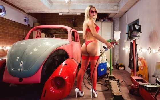 авто, devushki, девушка, ремонт, гараже, гараж, задняя, пневмоподвеска, bmw, продолжительность,