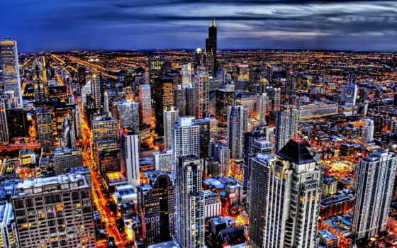 chicago, город, skyline, музыка,
