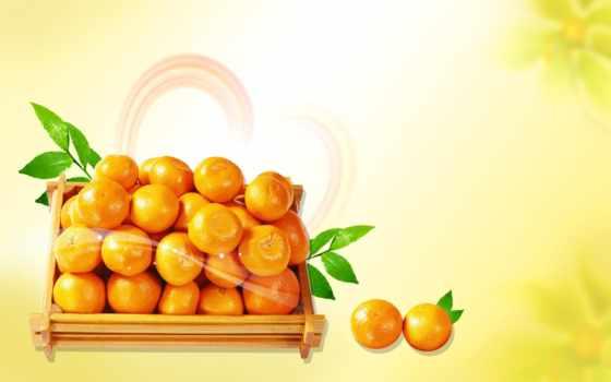 апельсины, клипарт, лимоны