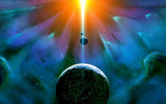 universe, свет, planet