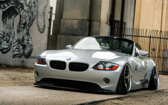 bmw, car, low, автообои,