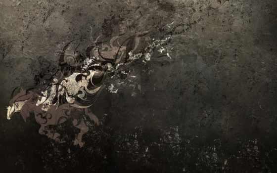 абстракция, dark, грива, лошадь, tail,