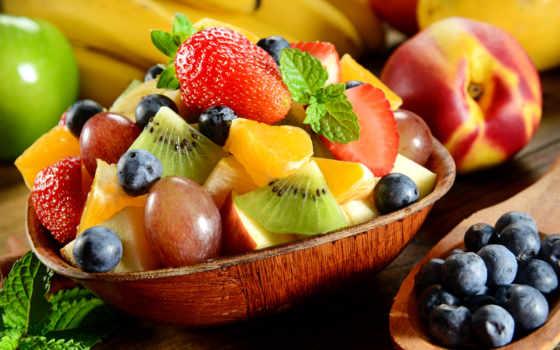 еда, salat, плод, плакат, фрукты, сладкое, стену, paintings,