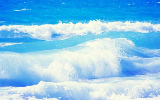 море, природа, ocean, water, waves, свежесть,