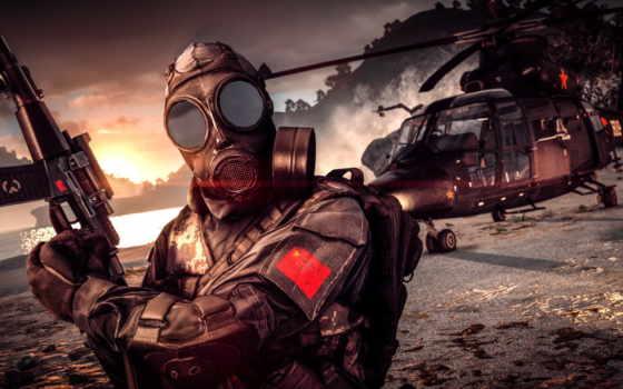 battlefield, маска, газовый, солдат, винтовка, video, game, fridaynightbatt,