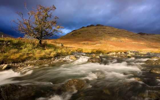 река, гора, природа