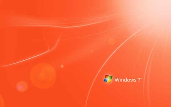 windows, naranja, red, оранжевый,