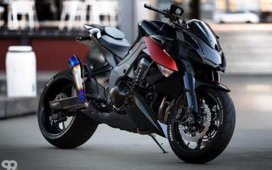 kawasaki, custom, мотоцикл