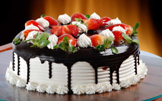 торт, клубника, chocolate