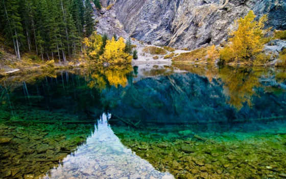 grassi, озеро, lakes, canmore, альберта, природа, канада, мар,