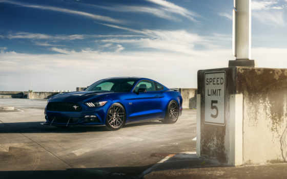 ford, mustang, adv, blue, car, wheels, картинка,