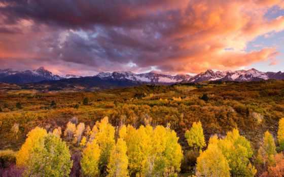 осень, небо, осеннее, картинка, природа, чистое, хмурое, эти, глубокое, бескрайнее,