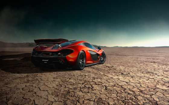 mclaren, автомобили, rear, суперкар, дорога, оранжевый, orange, storm, road, supercar, desert