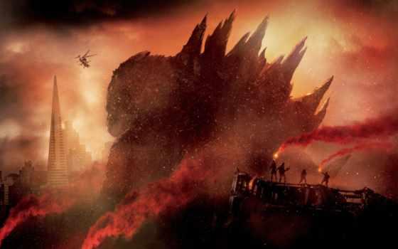godzilla, pantalla, monsters, fondo, king, директор