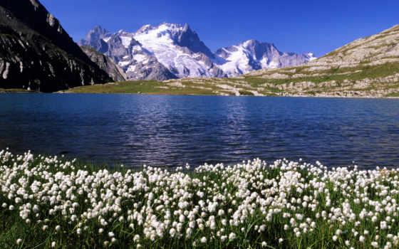 горы, озеро Фон № 4471 разрешение 1920x1080
