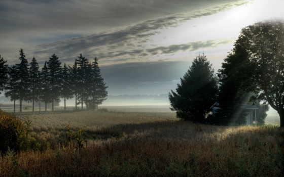 пейзаж, туман Фон № 22546 разрешение 1920x1200