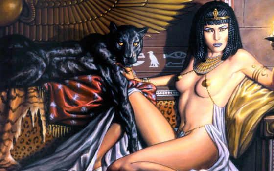 клеопатра, queen, египта