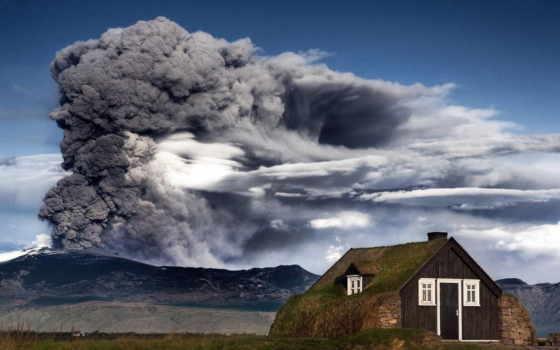 вулкан, извержение, iceland