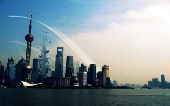 china, город, shanghai, south, китая,