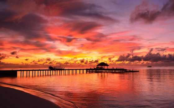 maldives, море, zoom, природа, фона, бунгало, фоны,