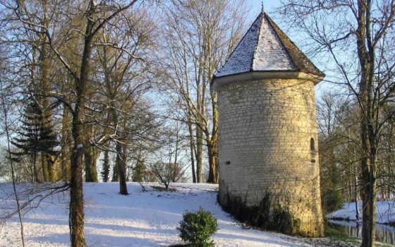 pantalla, fondos, paisajes, castillos, fondo, tamaño, para, nieve, gratis, патрик,