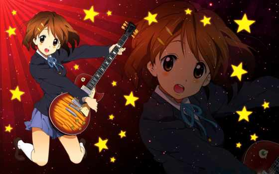 hirasawa, yui, гитары, guitars, кэйон, уи,