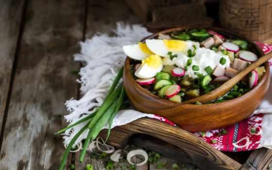 кокосовый, milk, салат, овощи, яйца
