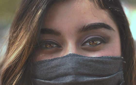 девушка, маска, глаз, глаза, covy, ночь, полет, cover, волосы, песнь, женщина