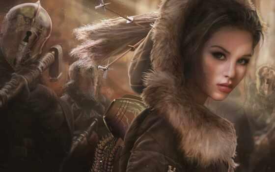 fantasy, девушка, волосы, женщина, браун, art, id