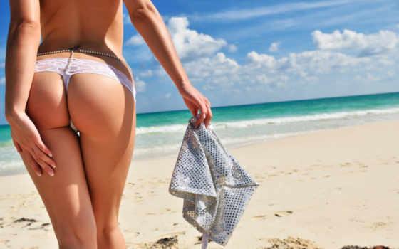 девушка, пляж Фон № 10716 разрешение 1920x1080