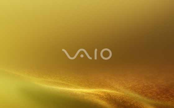 vaio, sony, notebook, logo, yellow, sand