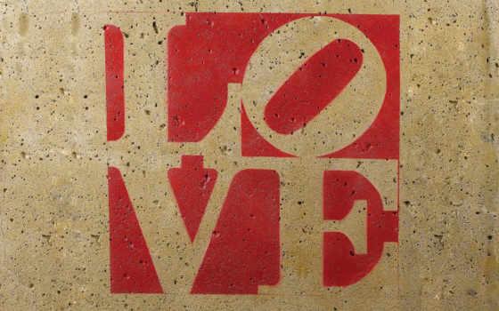 надпис, love, любов, буквы, слово, стена,