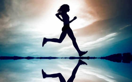 девушка, running, run