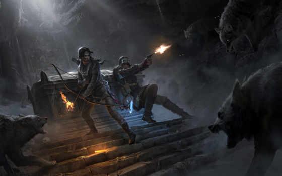 tomb, raider, взлёт, игры,
