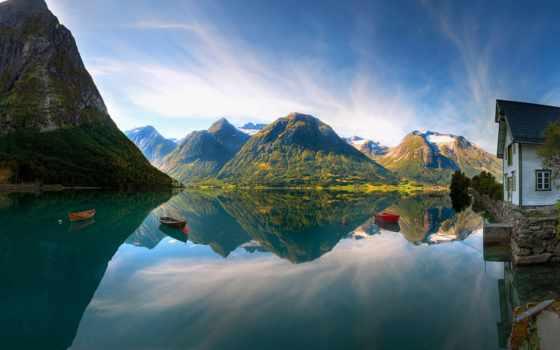 норвегия, norwegian, острова, лофотенские, world, полярная,