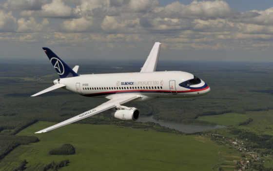 superjet, самолёт, sukhoi, new, пассажирский, russian, мс, самолеты, российского, ближнемагистрал,
