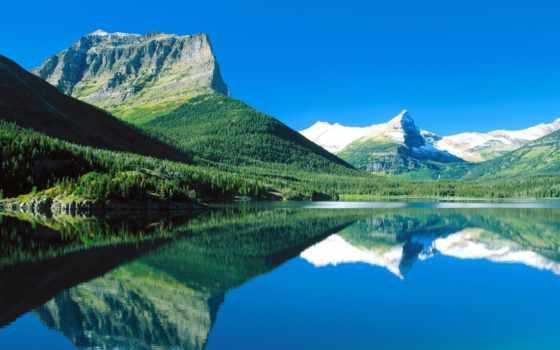 природа, озера, горы, reki, горные, банка, красивый, rock, озеро,