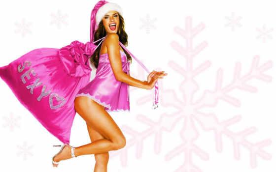 снегурочки, год, снегурочки, new, девушка, праздник, сексуальные, праздники, подарков, разных, мешком,