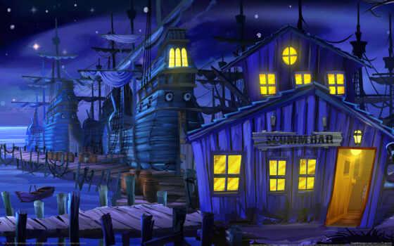 game, point, ipad, іо, пиратский, остров, обезьяна, adventure, cuesta, secret