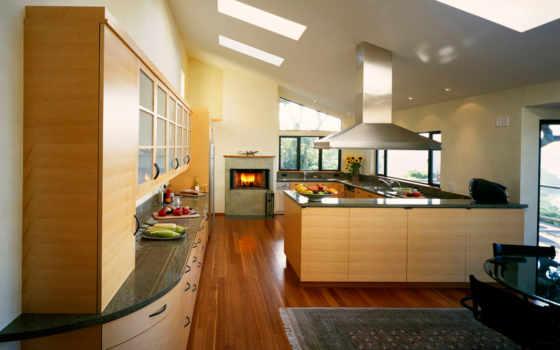кухня, камин