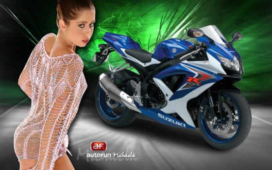 девушки, мотоциклы, мотоциклах