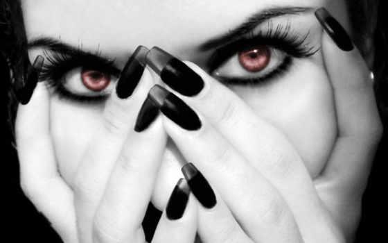 ногти, руки, devushki, лицо,