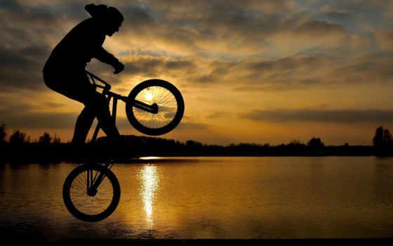закат, прыжок, мужчина