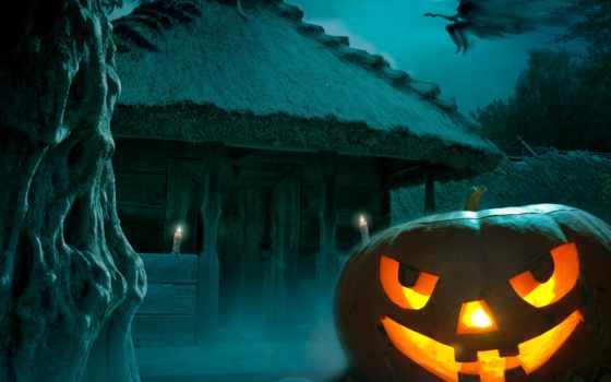 halloween, тыква, happy, праздник, луна, house, witch, hounted,