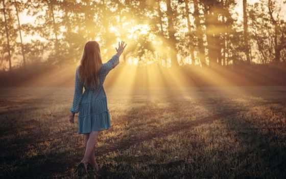 девушка, свет, утро, настроения, фея, закат, sun,
