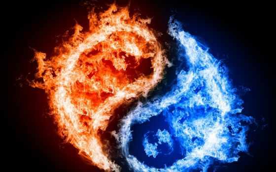 yin, огонь, yang, water, янь, символы, восток, philosophy, circle,